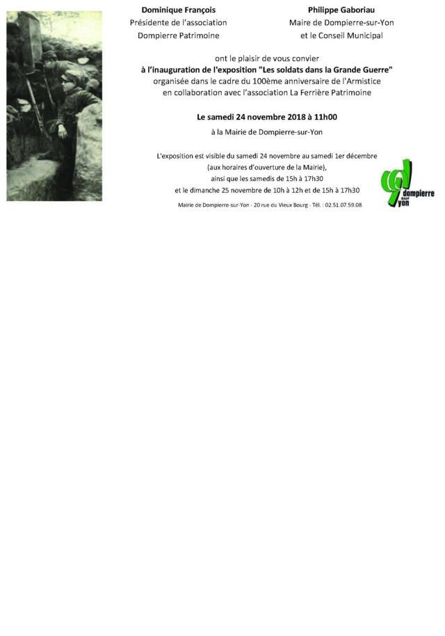 exposition LES SOLDATS DANS LA GRANDE GUERRE nov 2018 ter