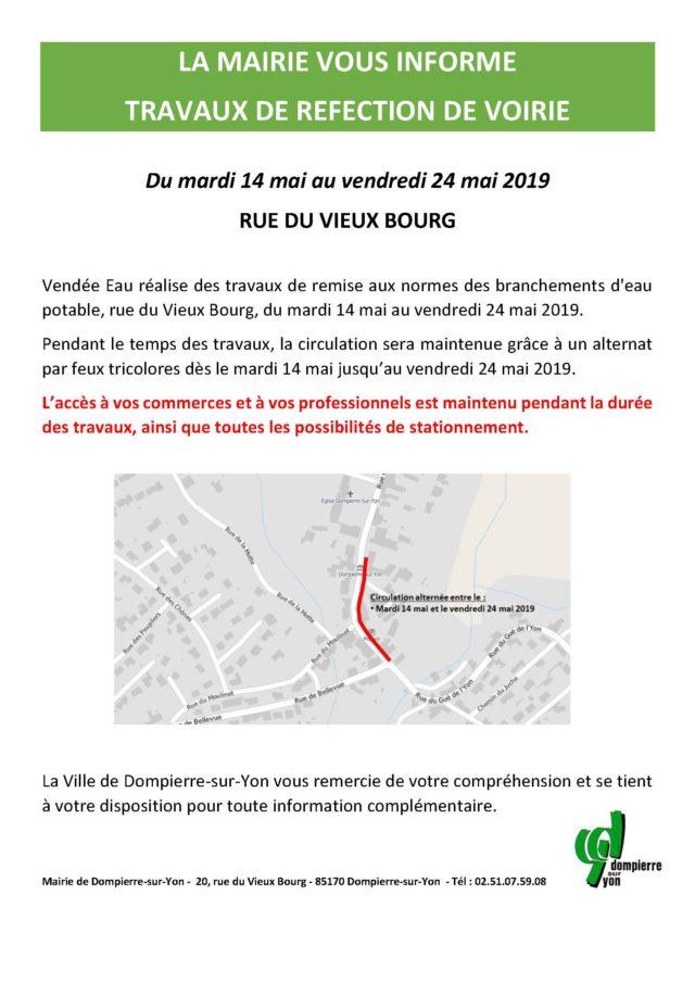 Affiche commerces vieux bourg Vendée eau