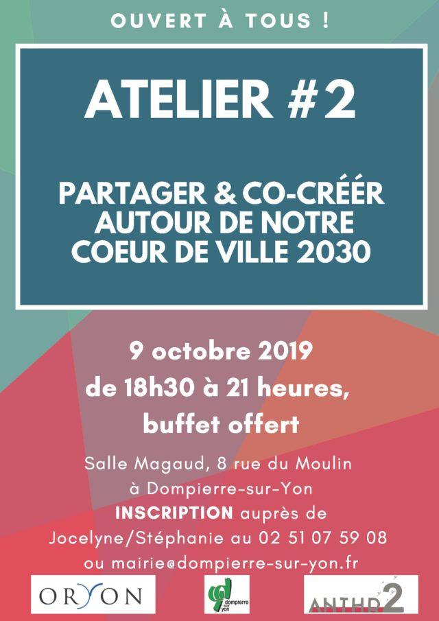 ATELIER2 Partage co-création coeur de ville 2030