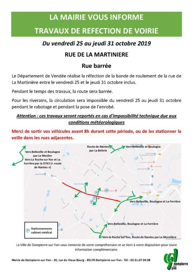 Affiche travaux rue de la martinière_oct 2019