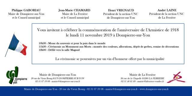 invitation 11 novembre 2019 bis